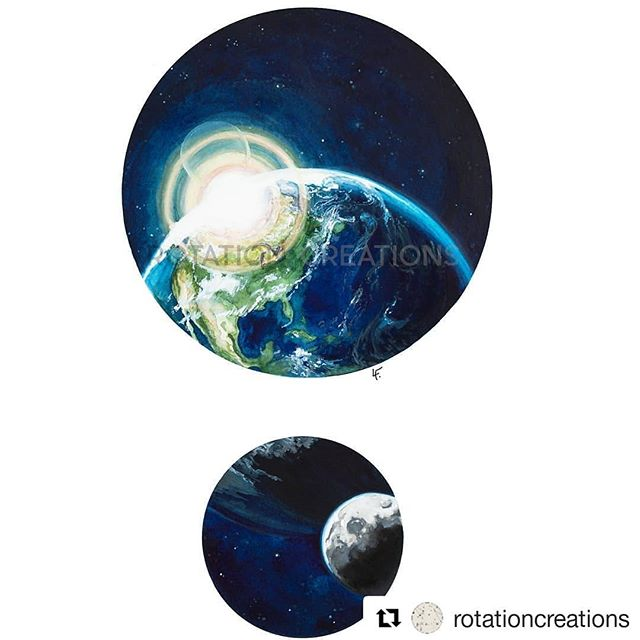 #Repost @rotationcreations (@get_repost) ・・・ Happy Earth day everyone! I made this watercolor to celebrate this pale blue dot!  #earthday #art #watercolor #imadethis #painting #earth #palebluedot #moon #space #planet #earthday2018🌏