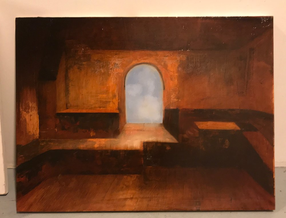 The Rooms  16 x 24  oil on panel