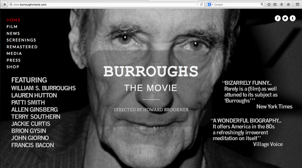 Burroughs: The Movie directed by Howard Brookner
