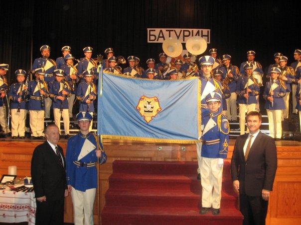 Flag presentation on 40th Anniversary Banquet