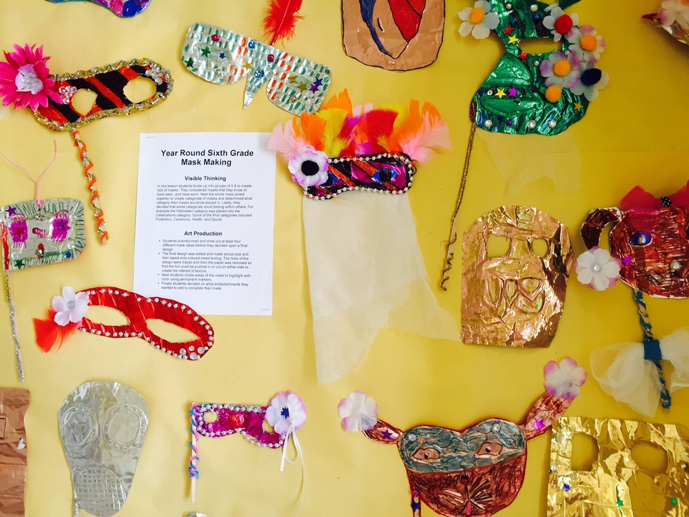 Sixth Grade Mask display