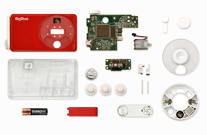 Bigshot components. Users have to assemble camera before use.