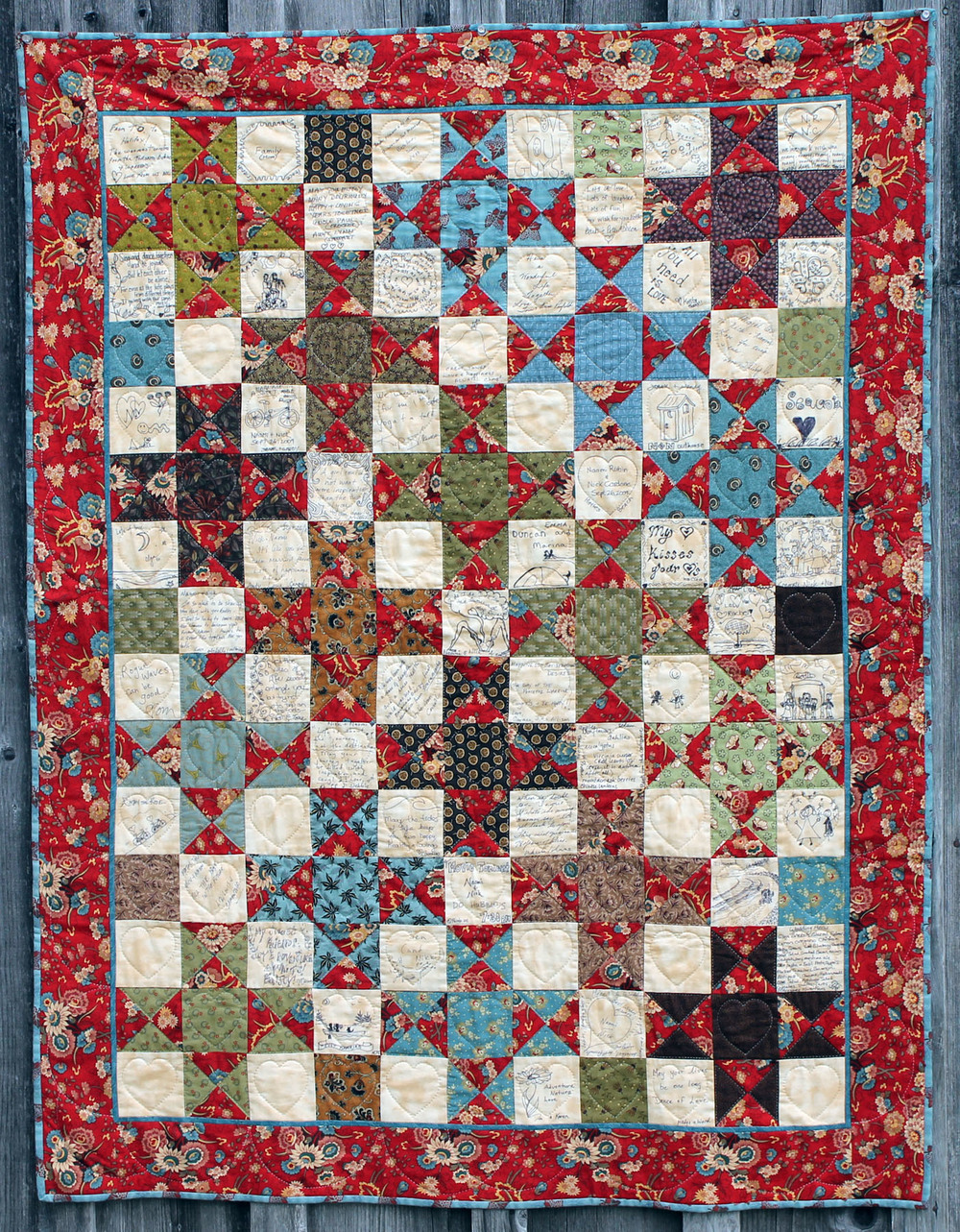 Naomi and Nick's wedding quilt