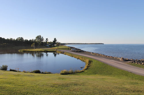 The view from the deck at Pictou Lodge