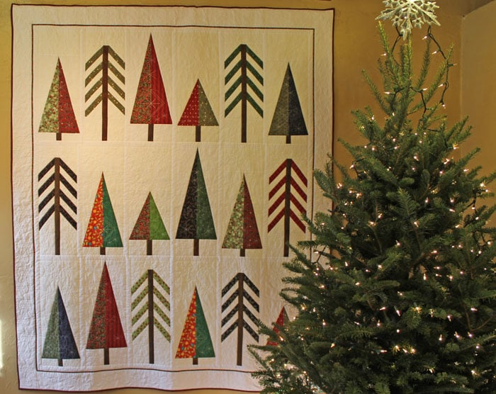 """""""Merry Christmas From Lunenburg County, Christmas Tree Capital of the World!"""", machine pieced, machine quilted by Lynn Jones"""