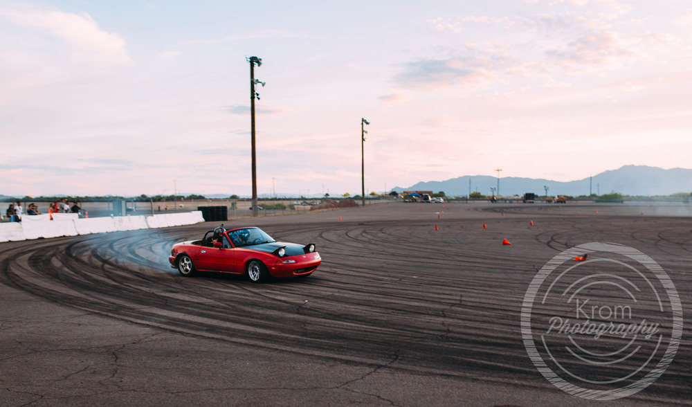Red Drift Mazda Miata