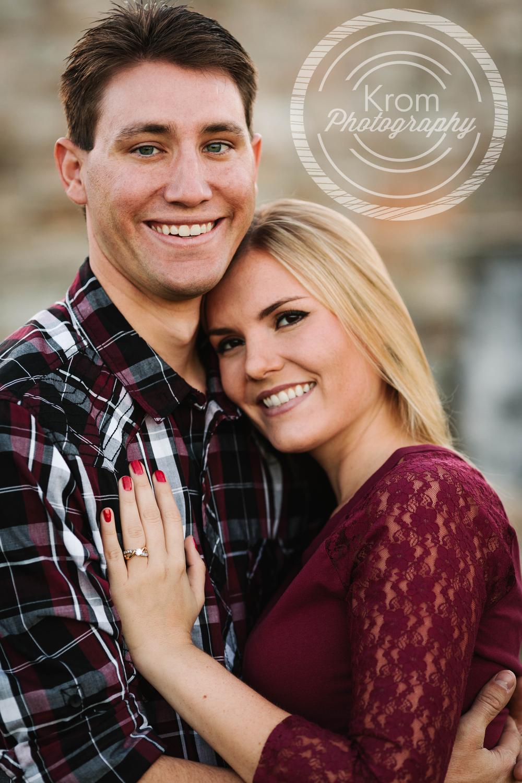 Close Up Engagement Photo