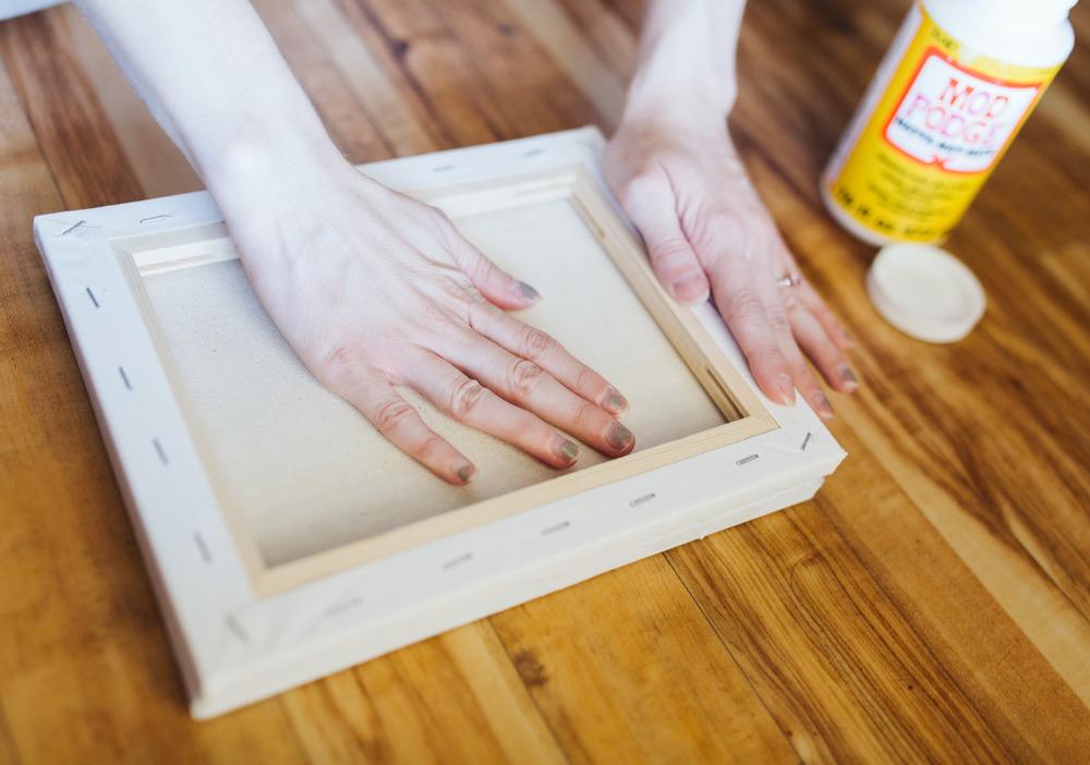 DIY canvas print pressing