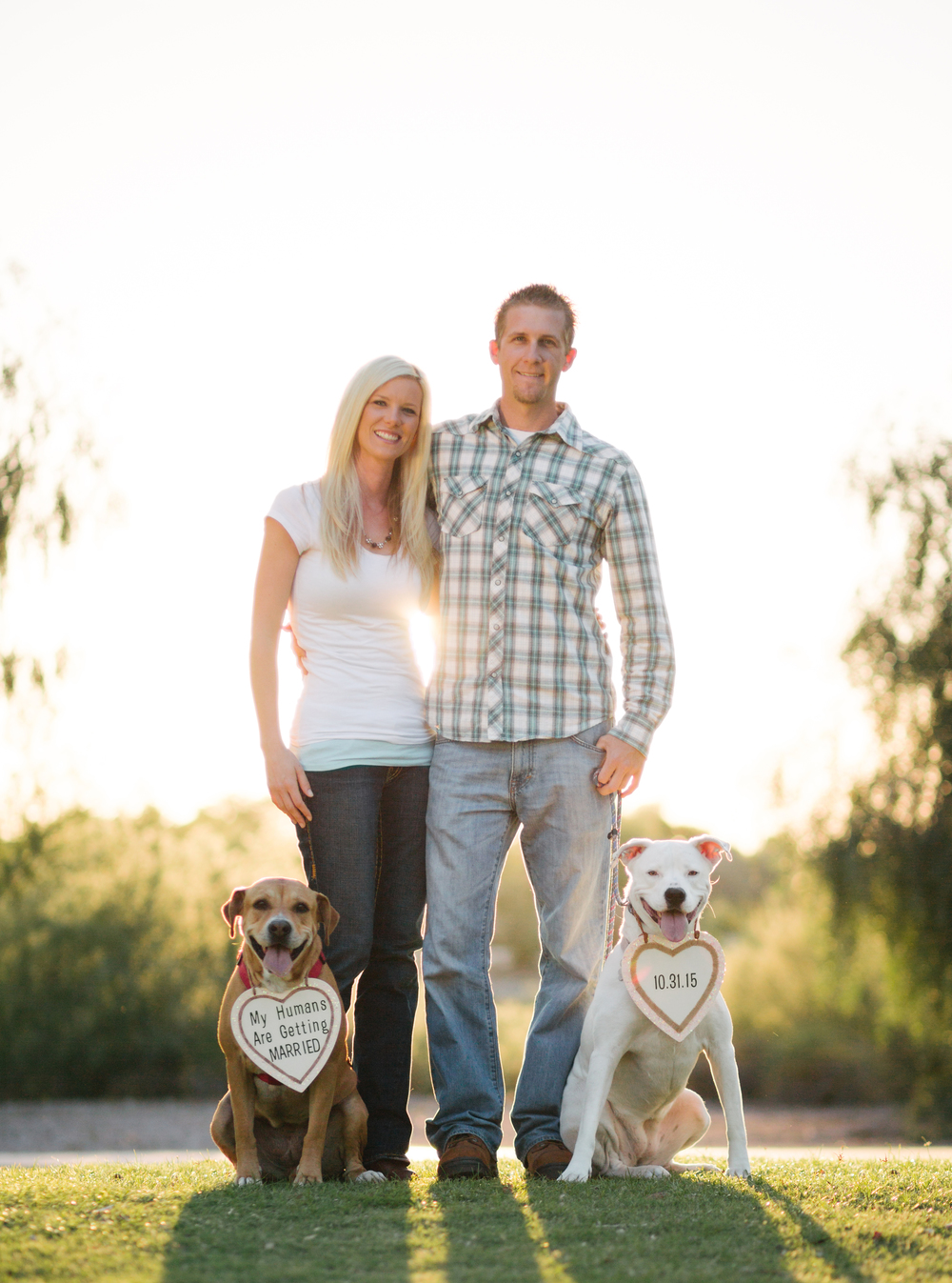 Couple Engagement Shoot with Dogs