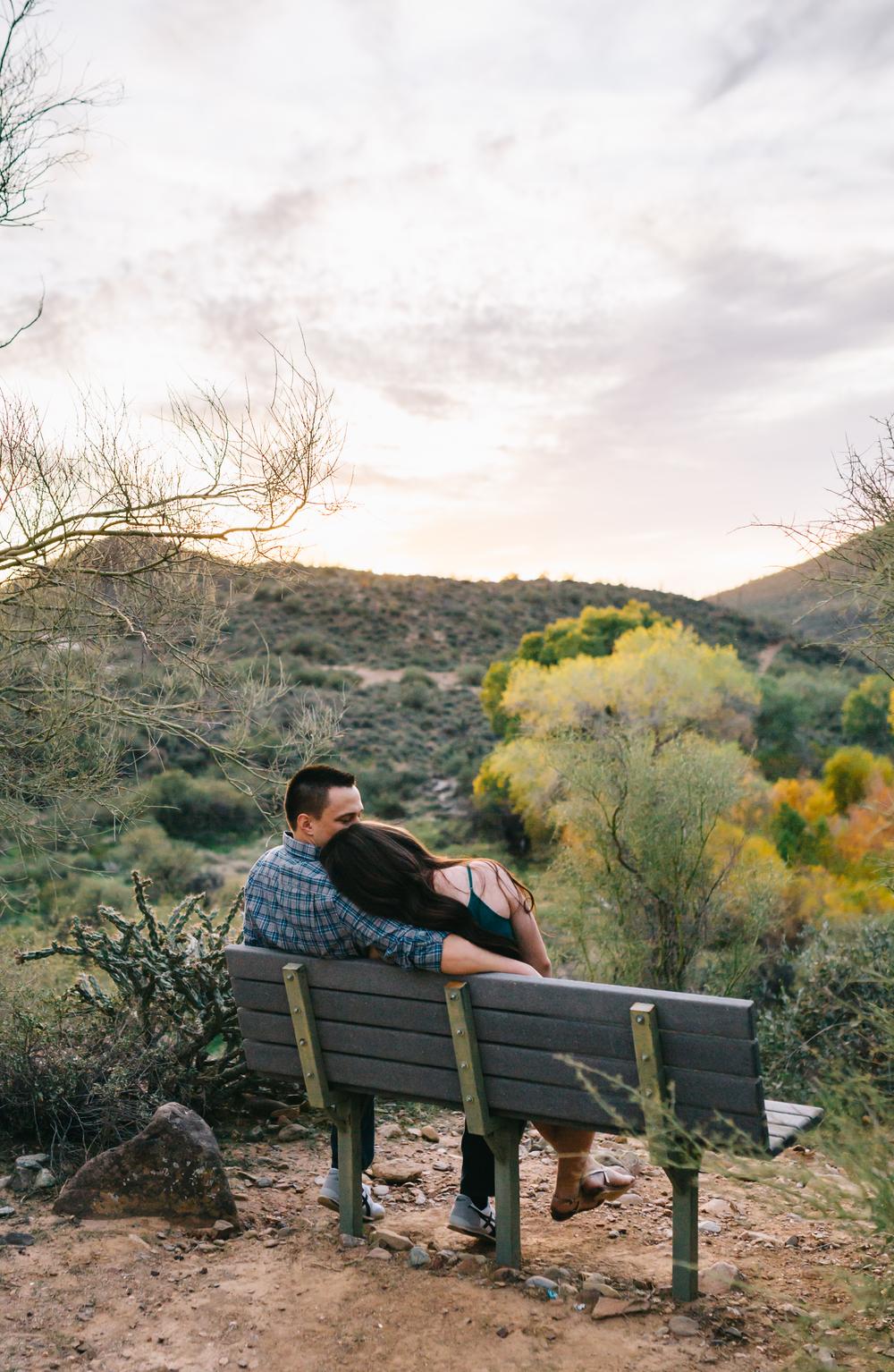 arizona sunset engagement
