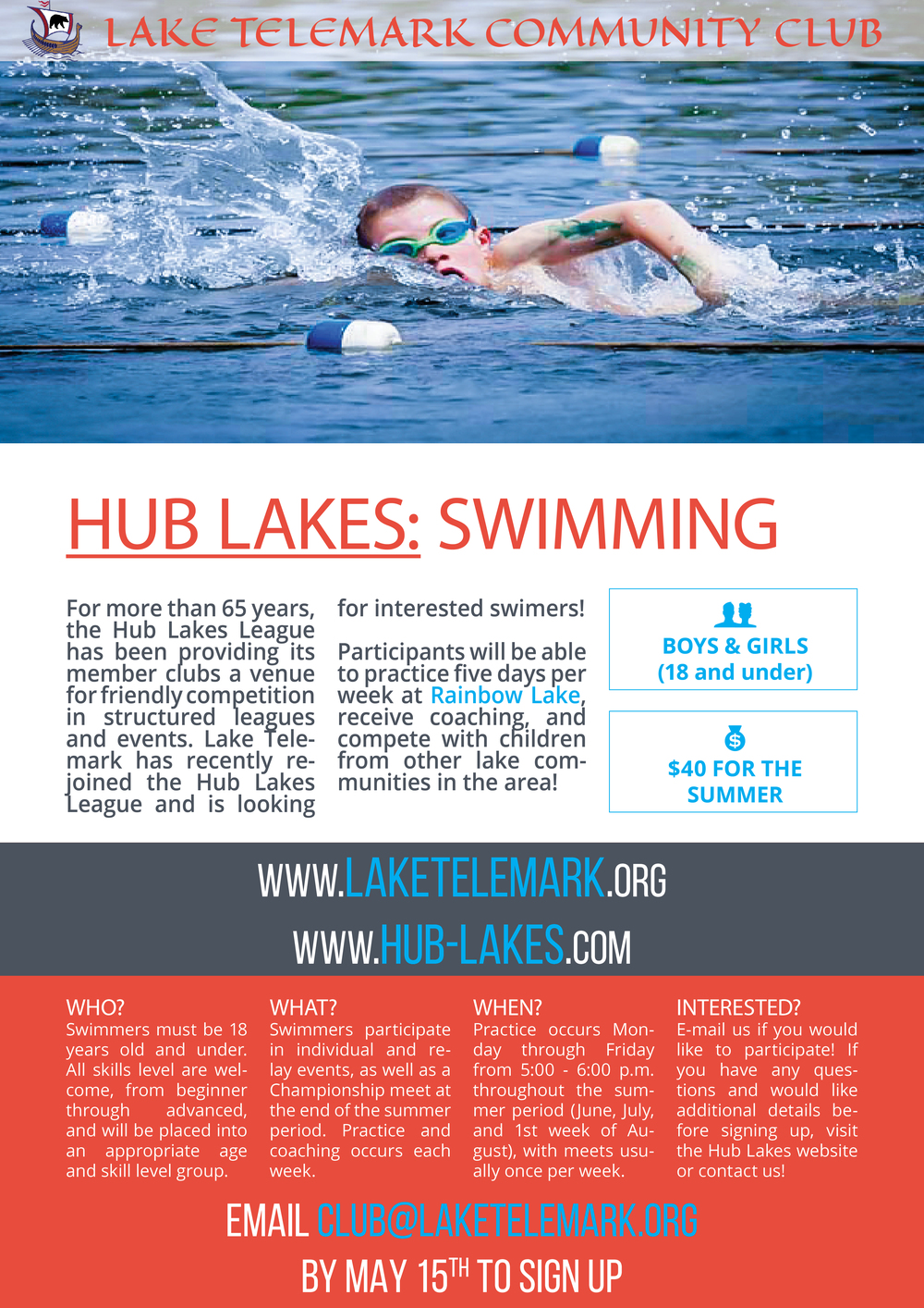 Hub Lakes League: Swimming