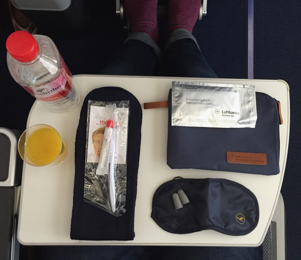 Great Premium Economy Amenity Kit!