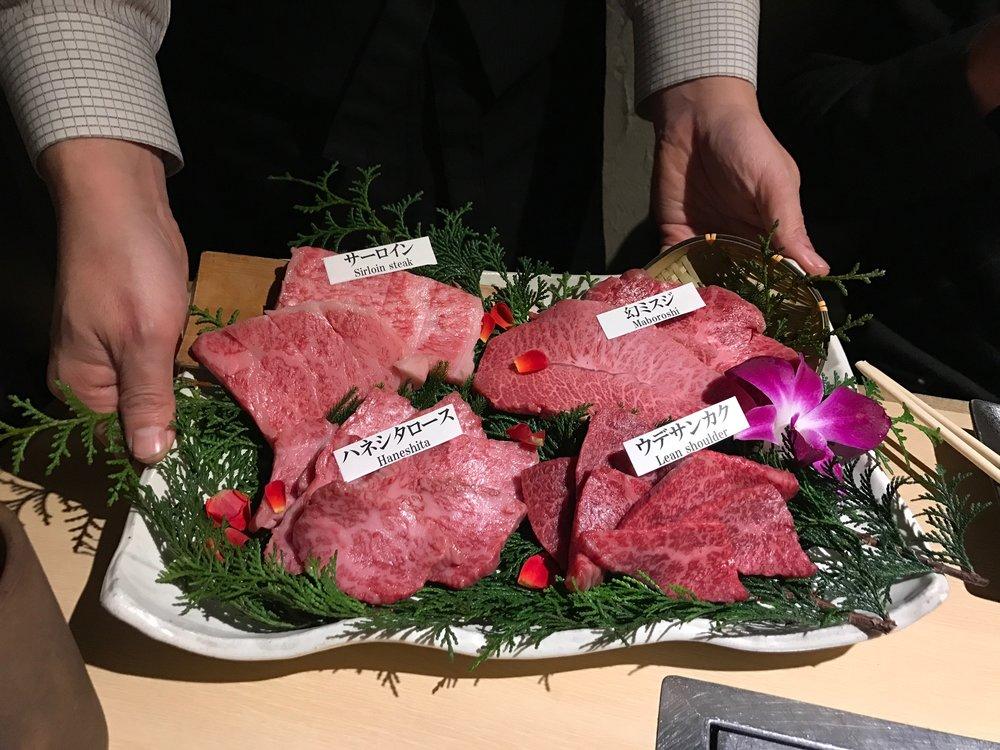 Matsusaka beef at Matsuzakagyu Yakiniku M