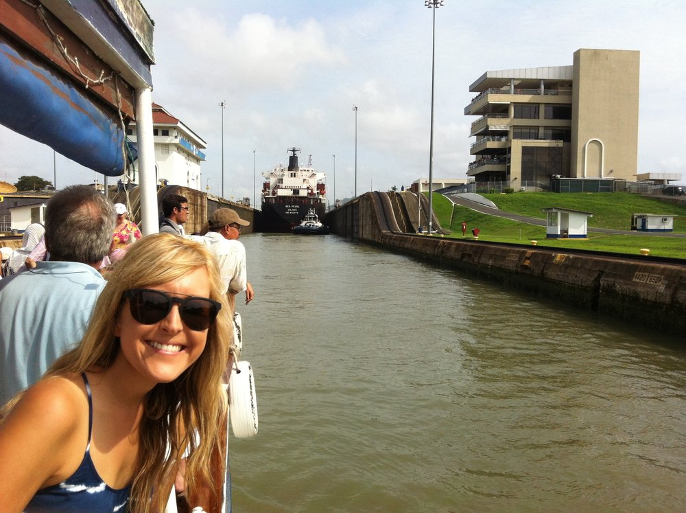 Going through the Panama Canal!