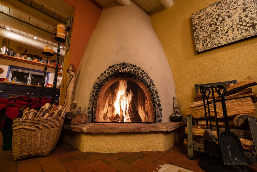 It's hard to leave the cozy fireplace at Casa Gallina