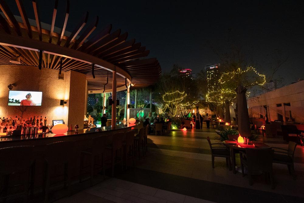 The Shisha Garden Bar at the Shangri-La