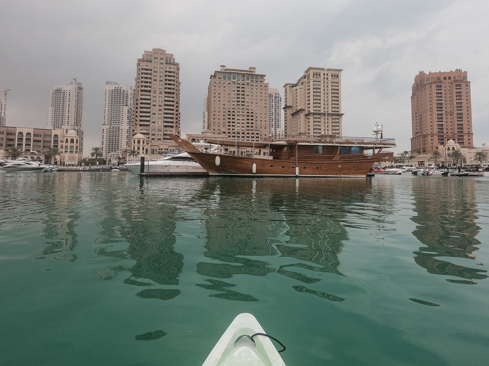 Traditional Dhow boat in the Pearl