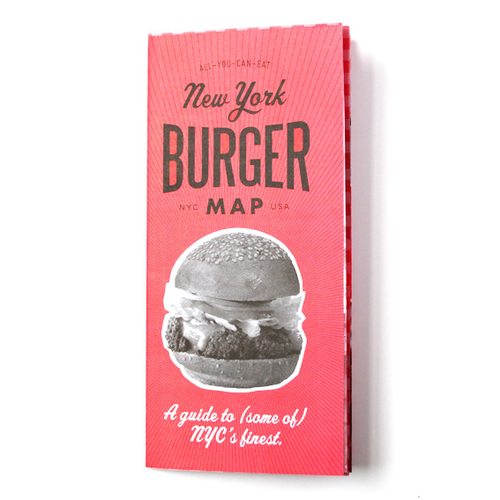 Nyc Map It.Vol 2 Ny Burger Map All You Can Eat Press