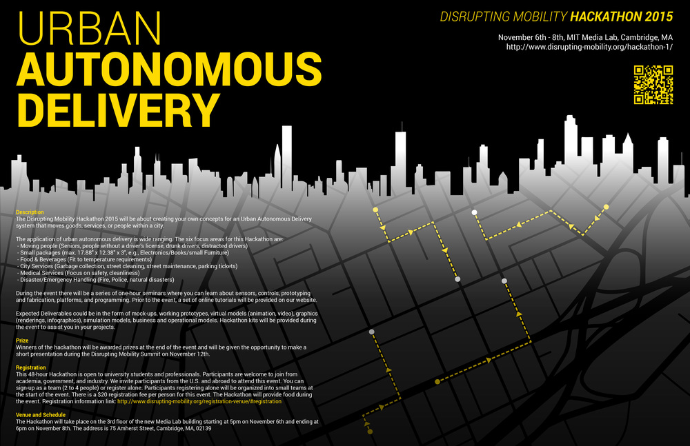 Disrupting Mobility Hackathon poster [PDF]
