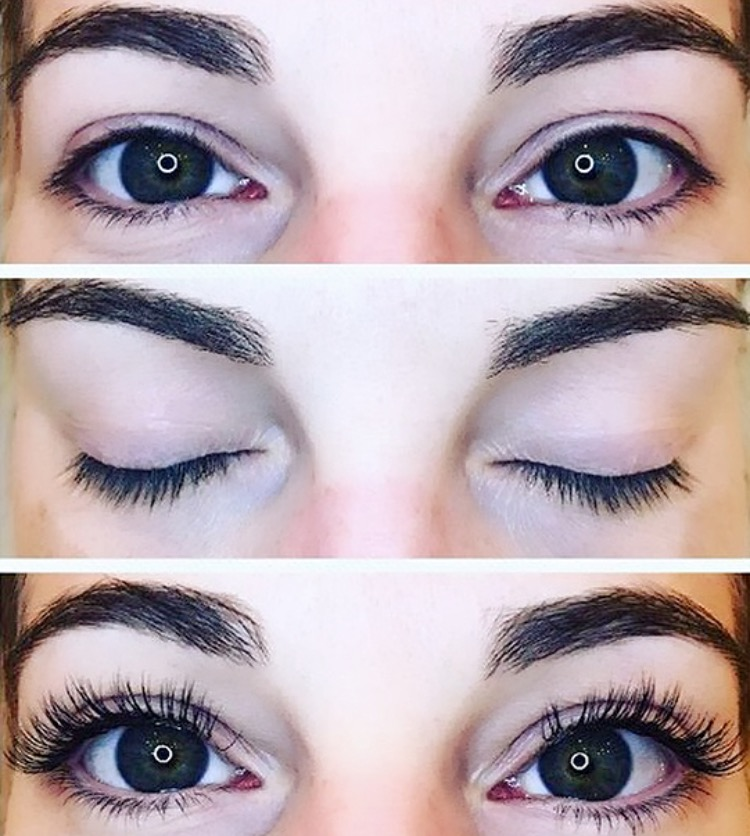 Eyelash Extensions Before & After (LashBee set)