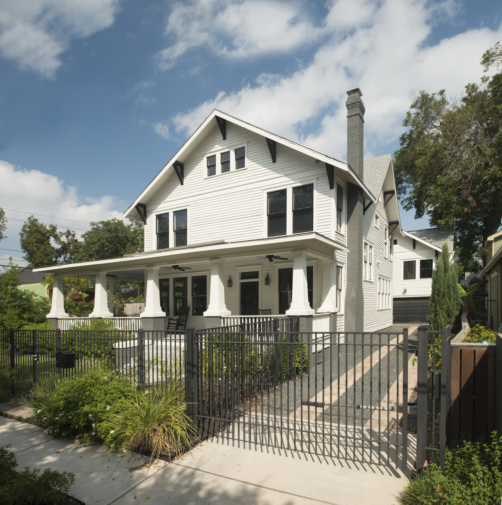 101 Parkview: Early-century Four Square with new addition, converted attic and preserved interior design features.