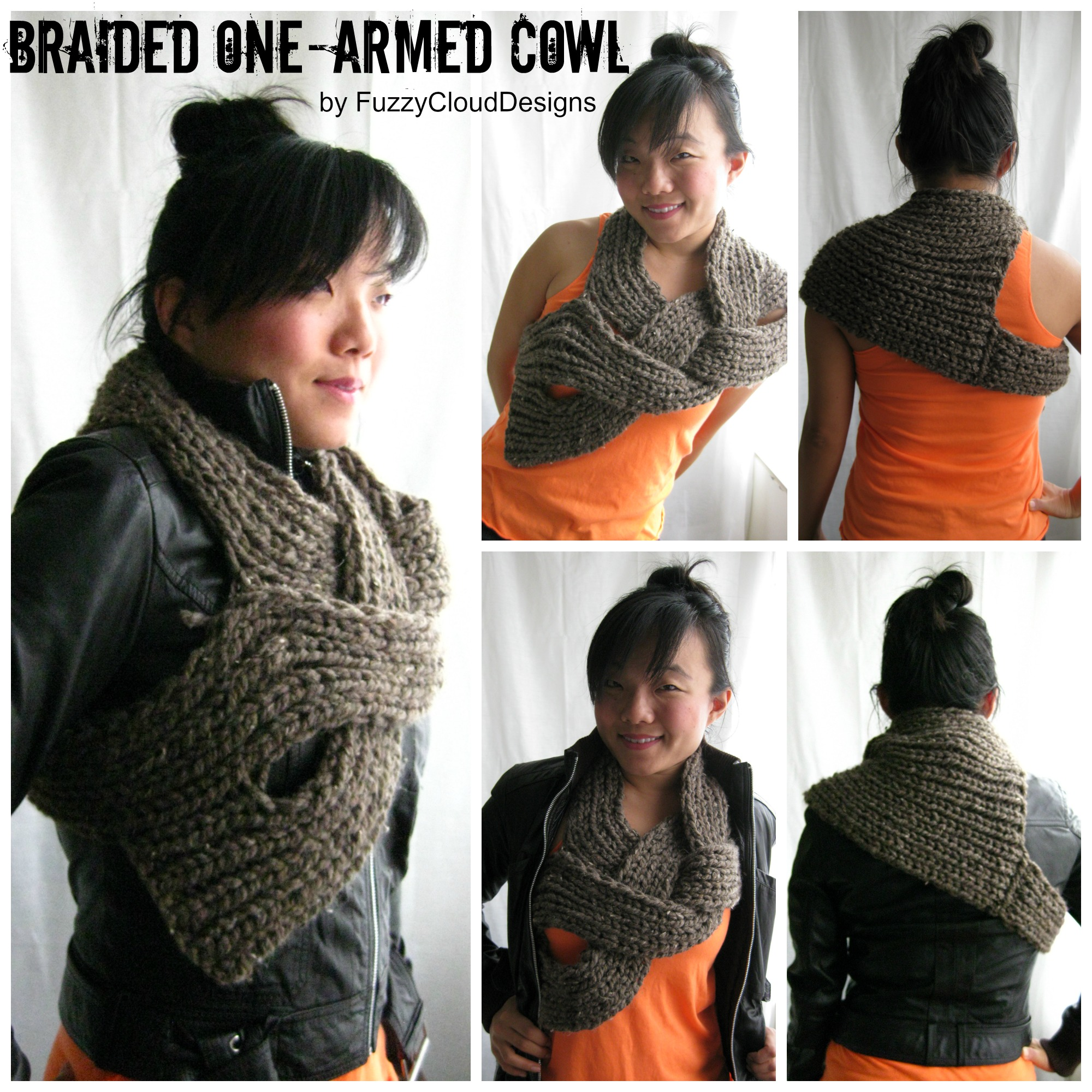 Braided One-Armed Cowl by FuzzyCloudDesigns