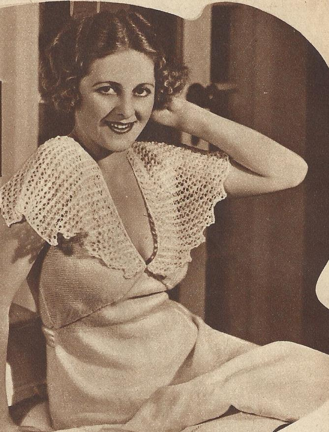 Knitted nightgown 1936