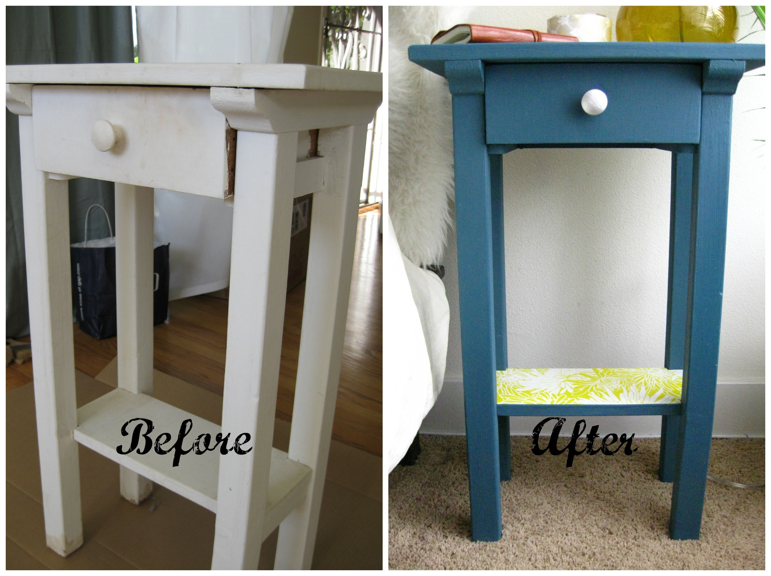 Nightstand before and after PicMonkey Collage