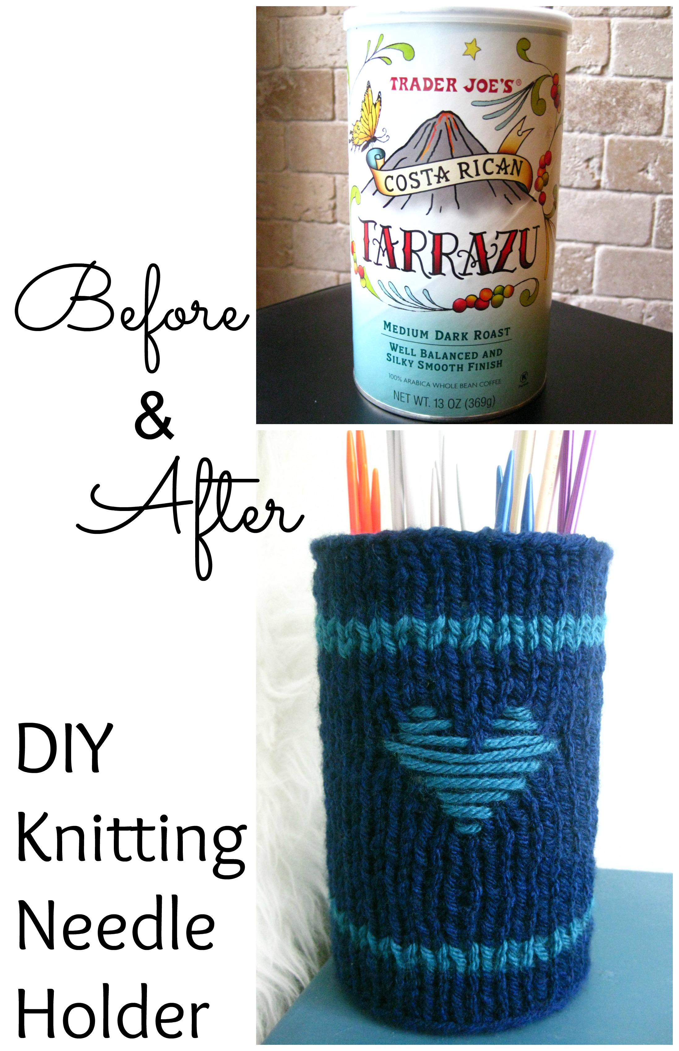 DIY Knitting Needle Holder via FuzzyCloudDesigns Blog