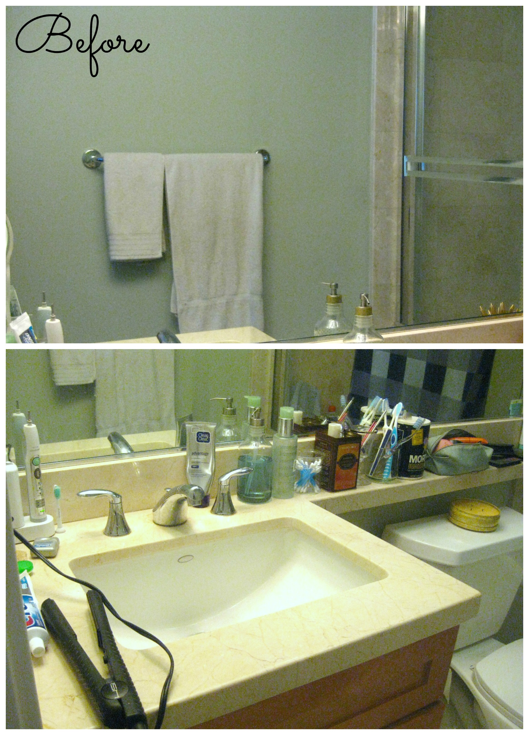 Bathroom Before Collage