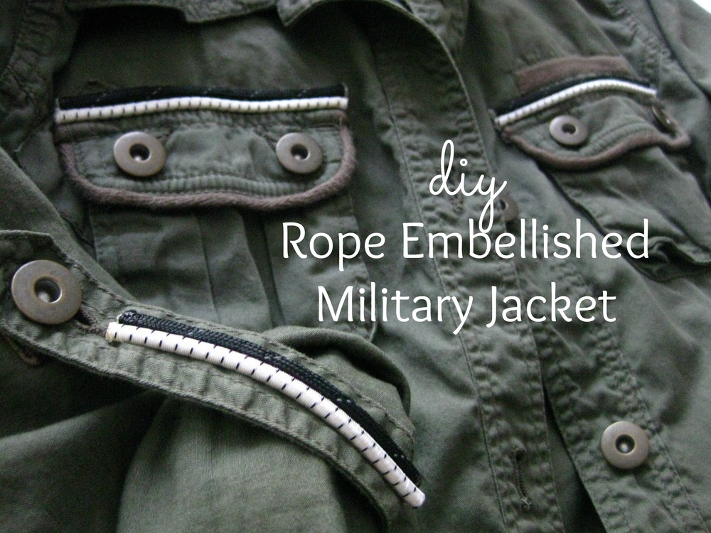 DIY Rope Embellished Military Jacket