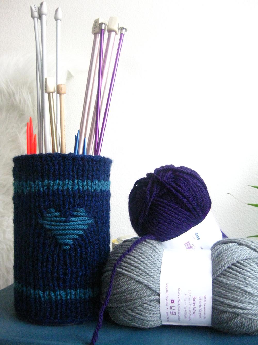 DIY Knitting Needle Holder