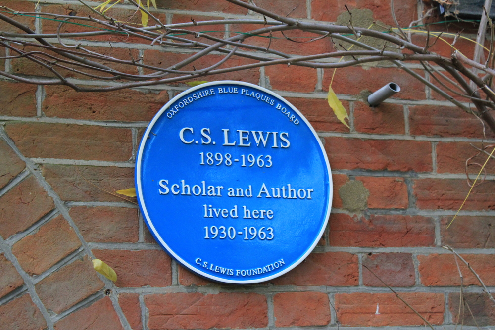 Plaque outside The Kilns, C. S. Lewis's former home (1930-63), Oxford, England