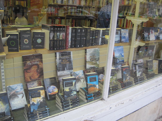 J. R. R. Tolkien book display in Oxford bookstore
