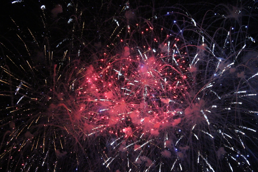 Guy Fawkes Day fireworks display in Oxford's South Parks