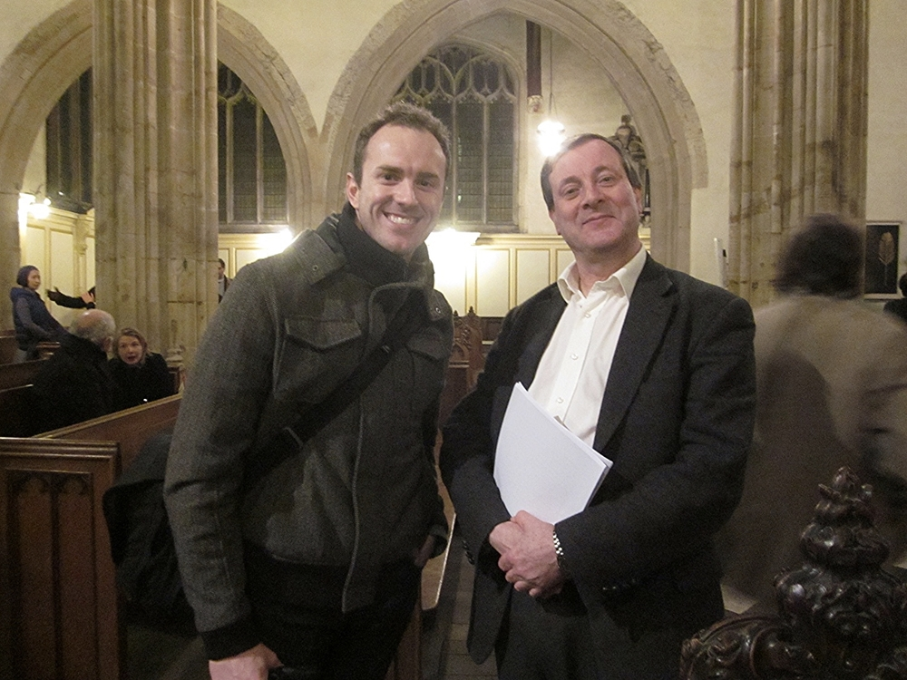 Ryan J Pemberton with Professor Alister McGrath, University Church of the Virgin St. Mary, Oxford, England