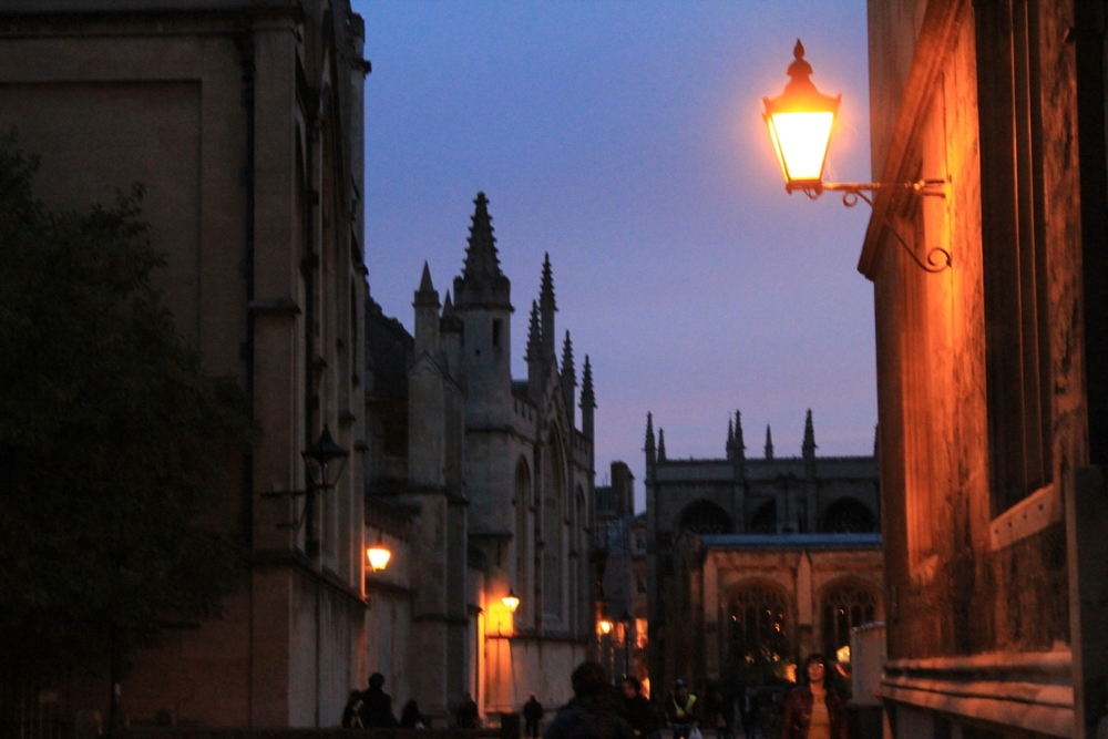 Oxford spires at dusk