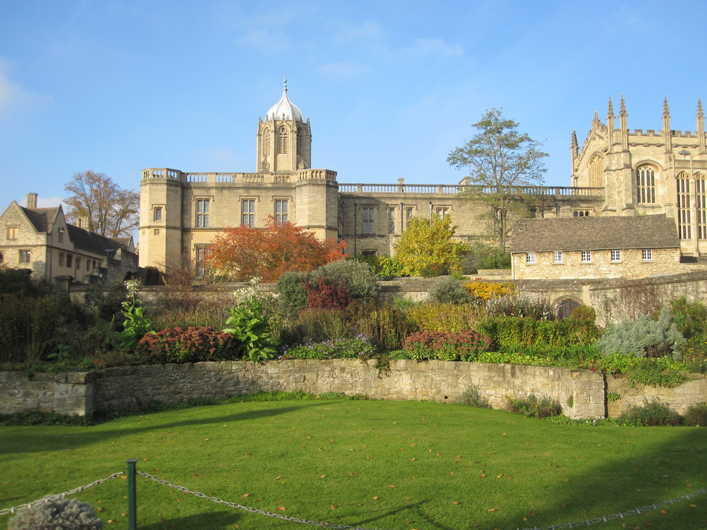 View of Christ Church from Christ Church meadows entrance