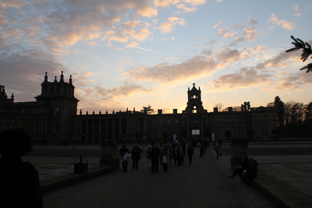 Blenheim Palace at dusk, Oxfordshire, England