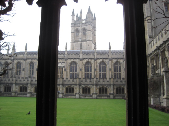 Magdalen Tower, view from Magdalen Cloisters