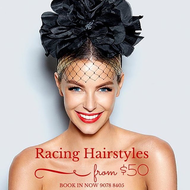 We still have a couple of slots available for the next few days... So hurry up and book yourself in for a Bella Hairstyling signature hair up for the upcoming racing season #racing#racingcarnival#fancyhair#style#camberwellhairdresser#jenifferlawrence#BellaHairstyling