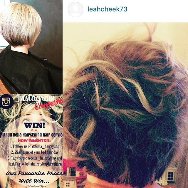 We have a winner for the Bella Hairstyling bad hair day competition 🙋👏🏆 Thank you girls for participating #congrats#leah#bellahairstylinghawthorn#bella_hairstyling