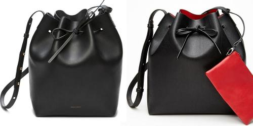 Mansur Gavriel bucket bag vs Forever 21 knockoff