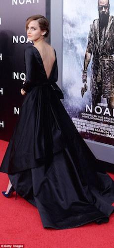 Emma Watson in an Oscar de la Renta gown