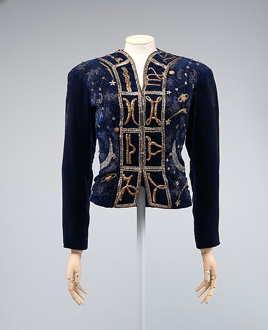 My picture of this jacket at the museum didn't turn out well so I found this one on Pinterest. See it in person at the exhibit!