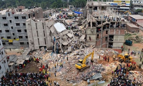 Rana Plaza building collapse on April 24, 2013