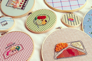 Jennie's whimsical embroidery projects