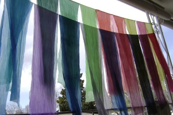 Hang dry silk