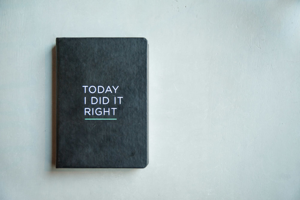 TODAY I DID IT RIGHT Self-Connection Journal