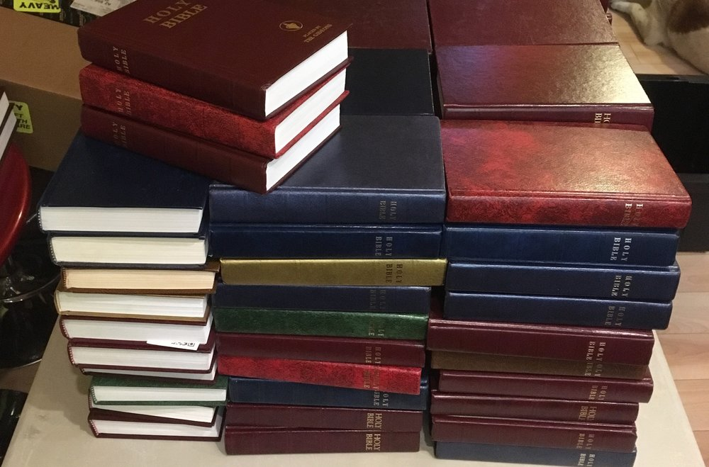 Stolen Hotel Bible Sales will stop Dec 17th, 2018
